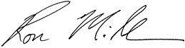 Ron Miller Signature
